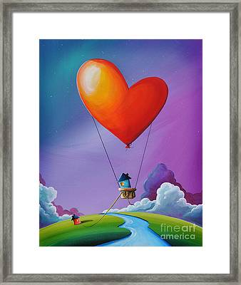 Don't Let Love Slip Away Framed Print by Cindy Thornton