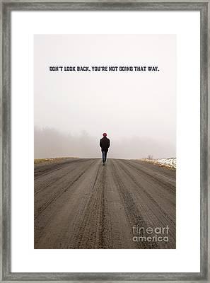 Don't Look Back Framed Print by Edward Fielding