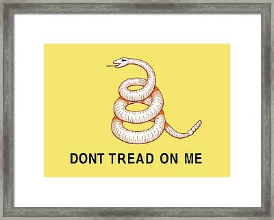 Don't Tread On Me Framed Print by American School