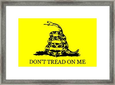 Don't Tread On Me Flag Framed Print by War Is Hell Store