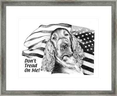 Dont Tread On Me Framed Print by Carole Raschella