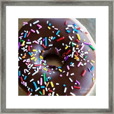 Donut With Sprinkles Framed Print by Kim Fearheiley