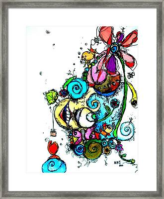 Doodle Framed Print by Lizzie  Johnson