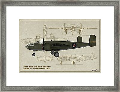 Doolittle Raiders - Raider One Framed Print by Tommy Anderson