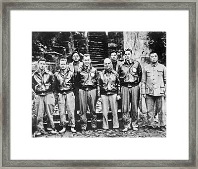 Doolittle's Raiders In China Framed Print by Underwood Archives
