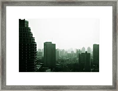 Doomsday Shanghai Framed Print by Christine Till