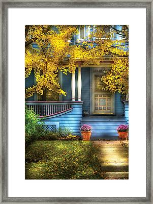 Door - Gorgeous Victorian  Framed Print by Mike Savad