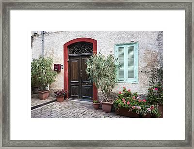 Door And Window Framed Print by Elena Elisseeva