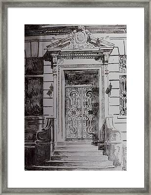 Door Framed Print by Anthony Butera