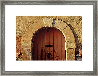 Door Framed Print by Bernard Jaubert