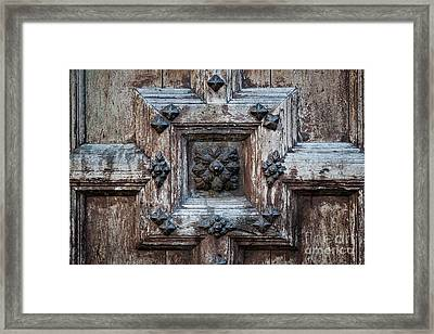 Door Fragment Of The Church Of The Jacobins Framed Print by Elena Elisseeva