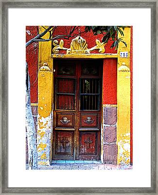 Door In The House Of Icons Framed Print by Mexicolors Art Photography