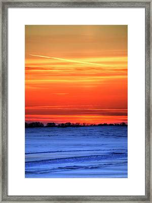 Door With A Window Framed Print by Wayne Stadler
