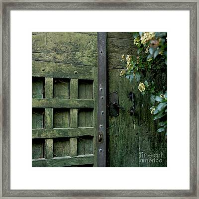 Door With Padlock Framed Print by Bernard Jaubert