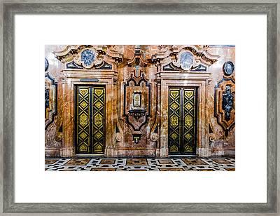 Doors - Cathedral Of Seville - Seville Spain Framed Print by Jon Berghoff