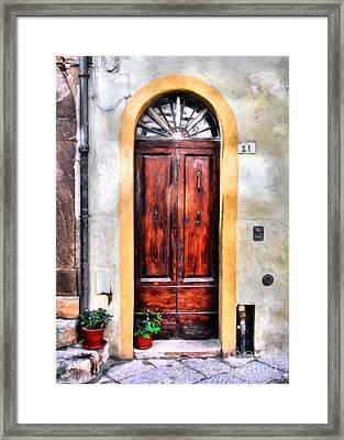 Doors Of Italy Framed Print by Mel Steinhauer