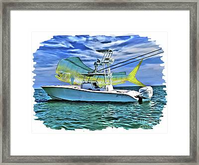 Dorado Yellowfin Framed Print by Carey Chen