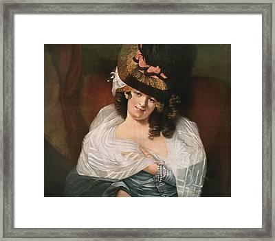 Dorothea Jordan, 1761 Framed Print by Vintage Design Pics