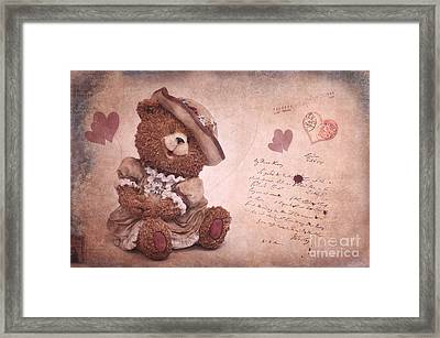 Dorothy In Love Framed Print by Angela Doelling AD DESIGN Photo and PhotoArt