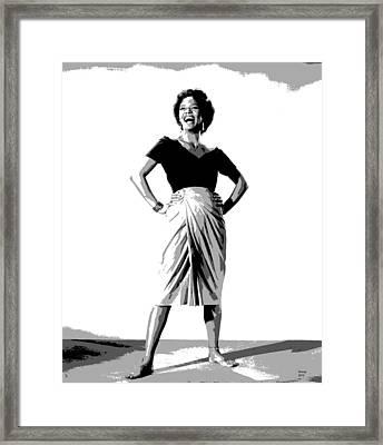 Dorothy Jean Dandridge Framed Print by Charles Shoup