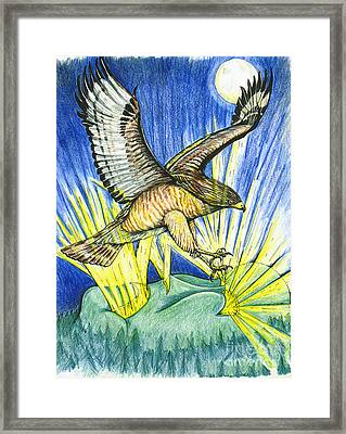 Dorothy's Totem Framed Print by Laura Brightwood
