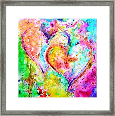 Dos Corazones Framed Print by Ivan Guaderrama