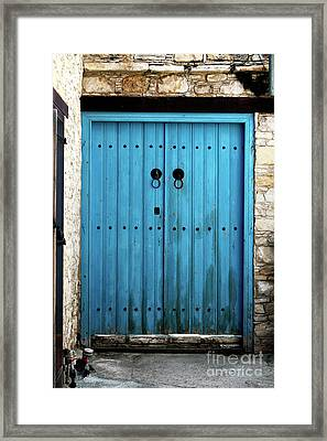 Double Blue Framed Print by John Rizzuto