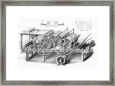 Double Cylinder Printing Machine. From Framed Print by Vintage Design Pics