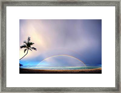 Double Overhead Framed Print by Sean Davey