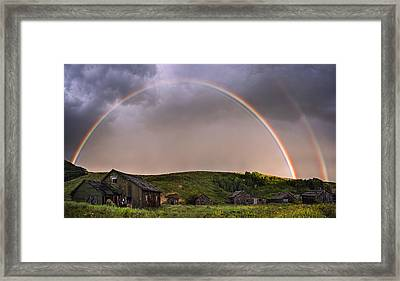 Double Rainbow Rebirth Framed Print by Dave Dilli