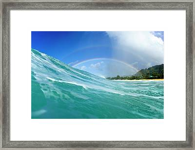 Double Rainbow Framed Print by Sean Davey