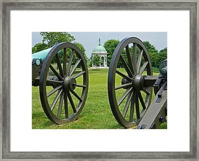 Double Wheel View - Antietam National Battlefield Framed Print by Emmy Marie Vickers