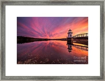Doubling Point Sunset Framed Print by Benjamin Williamson