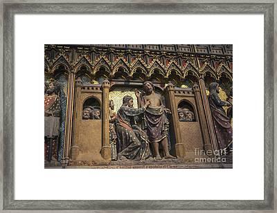 Doubting Thomas Scene Framed Print by Patricia Hofmeester