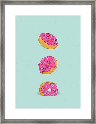 Doughnuts Framed Print by Evgenia Chuvardina