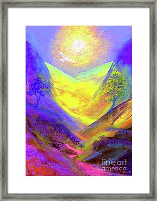 Dove Valley Framed Print by Jane Small