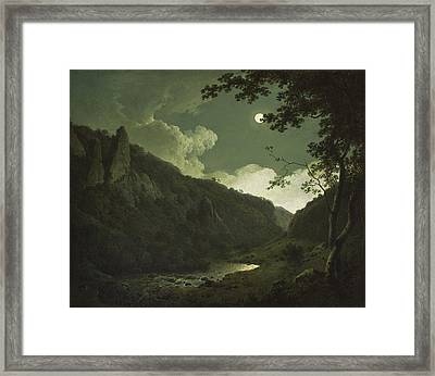 Dovedale By Moonlight Framed Print by Joseph Wright of Derby