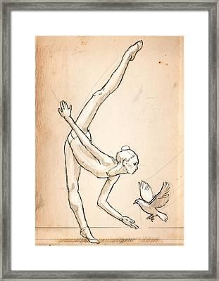 Doves Framed Print by H James Hoff