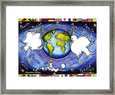 Doves Of The World Framed Print by Genevieve Esson
