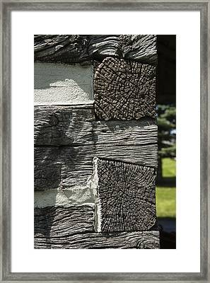 Dovetail Log Structure Framed Print by Donald  Erickson