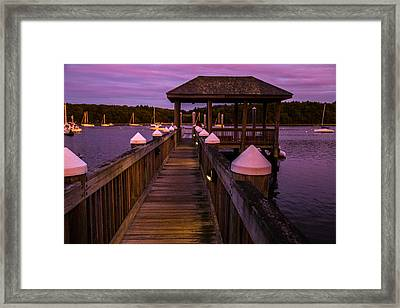 Down At The Dock Framed Print by Karol Livote