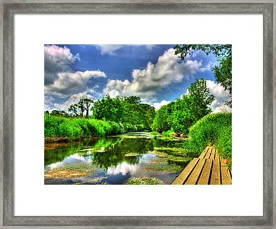 Down By The Riverside Framed Print by Kim Shatwell-Irishphotographer