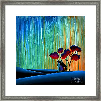 Down In The Valley Framed Print by Cindy Thornton
