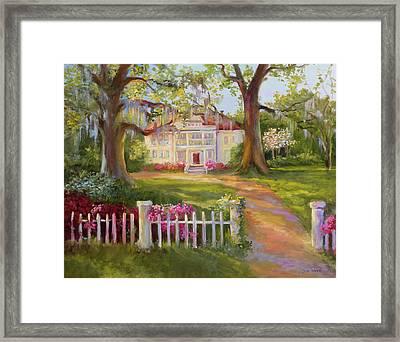 Down Near Mcclellanville Framed Print by Jane Woodward
