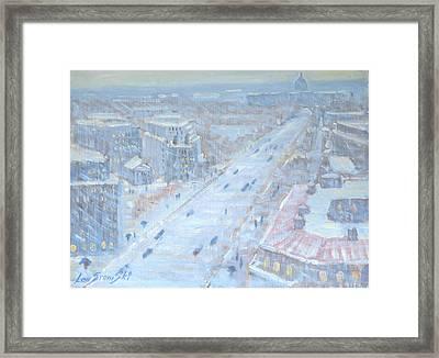 Down Pennsylvania Avenue Framed Print by Len Stomski