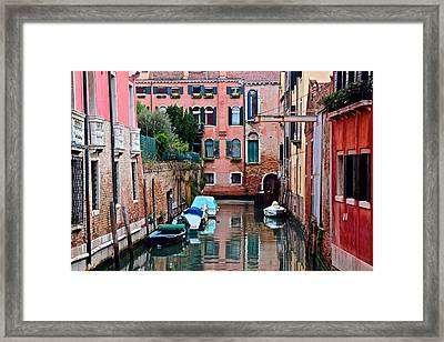 Down The Alleyway Framed Print by Frozen in Time Fine Art Photography