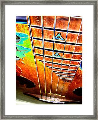 Down The Fingerboard Framed Print by Peter  McIntosh
