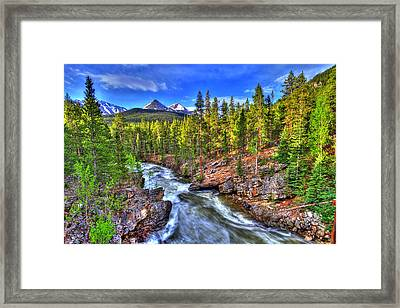 Down The River Framed Print by Scott Mahon