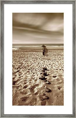 Down The Shore Framed Print by Wim Lanclus