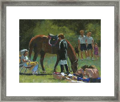 Down Time Framed Print by Mary McInnis